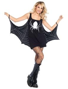 ハロウィン衣装 ブラック ジャージドレス 蜘蛛網 コスプレ コスプレ・コスチューム cc89050-2