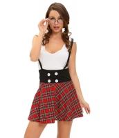 いたずら 女子高生 2点セット サスペンダー スカート ドレス cc8973-22