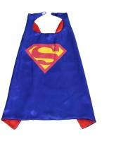 スーパーマン コスチューム マント ブルー 大人/子供共通 qx10060-5