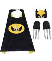 ウルヴァリン X-Men コスチューム 大人/子供共通 マント+ヘッドマスク+爪x2 4点セット qx10003-7