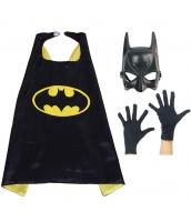 バットマン コスチューム 大人/子供共通 マント+マスク+グローブx2 4点セット qx10046-4