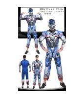 筋肉オプティマス・プライム トランスフォーマー コスチューム ジャンプスーツ+フードマスク 2点セット qx10125-1