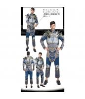 アンドゥ イン ローサー WoW ワールドオブウォークラフト コスチューム ジャンプスーツ+ベルト+肩装飾x2(武器含まず) 4点セット qx10122-2