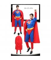 スーパーマン コスチューム ジャンプスーツ+マント 2点セット qx10020-9