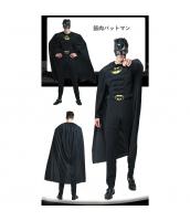 バットマン コスチューム 筋肉ジャンプスーツ+マント+マスク 3点セット qx10020-18