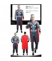 マイティソー 雷神 アベンジャーズ コスチューム 筋肉ジャンプスーツ+マント 2点セット qx10020-11