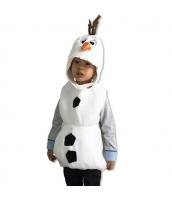 ハロウィン衣装 コスプレ 2-3歳児 コスチューム スノーベイビー 2点セット 帽子+ベスト qx10008-4
