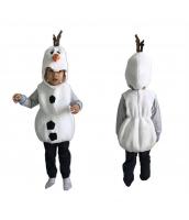 ハロウィン衣装 コスプレ 6-9歳児 コスチューム スノーベイビー 2点セット 帽子+ベスト qx10008-6