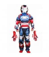 アイアンマン アベンジャーズ コスチューム 7-9歳児 ジャンプスーツ+マスク+グローブx2 4点セット qx10010-12