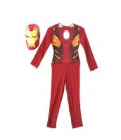 アイアンマン アベンジャーズ コスチューム 4-6歳児 薄手ジャンプスーツ+マスク 2点セット qx10010-17