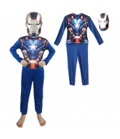 アイアンマン アベンジャーズ コスチューム 4-6歳児 薄手ジャンプスーツ+マスク 2点セット qx10010-18