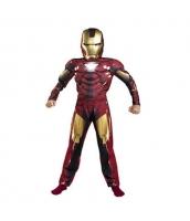 アイアンマン アベンジャーズ コスチューム 6-7歳児 ジャンプスーツ+マスク 2点セット qx10010-2