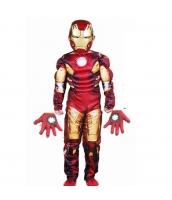 アイアンマン アベンジャーズ コスチューム 7-9歳児 ジャンプスーツ+マスク+グローブx2 4点セット qx10010-5
