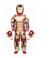 アイアンマン アベンジャーズ コスチューム 4-6歳児 ジャンプスーツ+マスク+グローブx2 4点セット qx10010-8