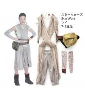 レイ スターウォーズStarWars コスチューム 7-9歳児 ドレス+ベルト+アームカバーx2 4点セット qx10130-12
