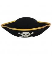 パイレーツ・オブ・カリビアン コスプレ小道具 海賊帽子 ゴールデン髑髏 qx10019-3