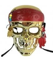 パイレーツ・オブ・カリビアン コスプレ小道具 海賊マスク ゴールデン qx10015-11