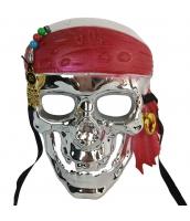パイレーツ・オブ・カリビアン コスプレ小道具 海賊マスク シルバー qx10015-12