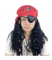 パイレーツ・オブ・カリビアン パーティウィッグ 海賊 ウィッグ+アイパッチ+頭巾 3点セット qx10108-8