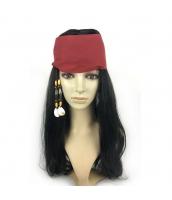 パイレーツ・オブ・カリビアン パーティウィッグ 海賊 ウィッグ+頭巾 2点セット qx10108-9