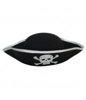 パイレーツ・オブ・カリビアン コスプレ小道具 海賊帽子 シルバー髑髏 qx10019-8