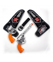 カウボーイ おもちゃ兵器・武器 カウボーイ警察 ピストル (ピストル+ケース)x2 4点セット qx10095-9