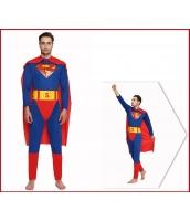 スーパーマン コスチューム ジャンプスーツ+ベルト+マント 3点セット qx10020-1