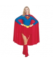 スーパーマン コスチューム ドレス+マント+ブーツカバーx2+ベルト 5点セット qx10020-2
