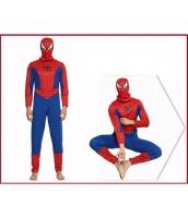 スパイダーマン コスチューム ジャンプスーツ+フードマスク 2点セット qx10020-4
