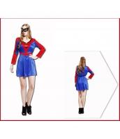 スパイダーマン コスチューム ドレス+アイマスク 2点セット qx10020-5