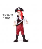 パイレーツ・オブ・カリビアン コスチューム 海賊 男の子 7-9歳児 帽子+トップス+ベルト+ブーツカバー付きパンツ(刀含まず) 4点セット qx10024-1