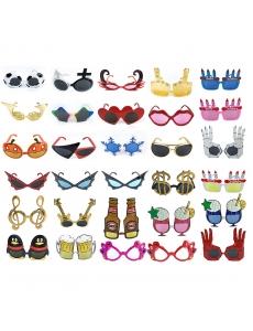 コスプレ小道具 アイマスク 色々なメガネマスク パーティマスク 一つランダム発送 qx10027-23