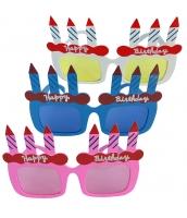 コスプレ小道具 お誕生日メガネマスク パーティマスク アイマスク 色ランダム発送 qx10027-2