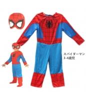スパイダーマン コスチューム 3-4歳児 薄手ジャンプスーツ+フードマスク 2点セット qx10029-10