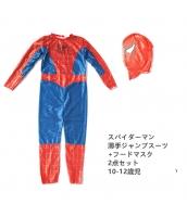 スパイダーマン コスチューム 10-12歳児 薄手ジャンプスーツ+フードマスク 2点セット qx10029-9