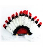 インディアン帽子 コスプレ小道具 帽子 部族長老 白 qx10030-1