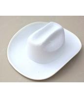 コスプレ小道具 ジャズバンド・紳士服小物 帽子・ハット 白 qx10033-5
