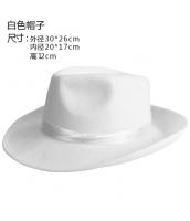 コスプレ小道具 ジャズバンド・紳士服小物 帽子・ハット 白 qx10033-7