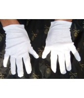 コスプレ小道具 ジャズバンド・紳士服小物 グローブ・手袋 白 qx10033-9