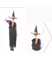 コスチューム パープル魔女 ウィッチ ドレス+帽子 2点セット qx10037-17