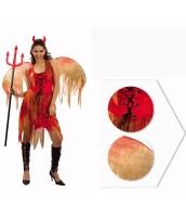 コスチューム レッド悪魔 デビル ウィング+ドレス+ブーツカバー 3点セット qx10037-19