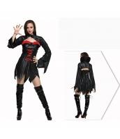 コスチューム 女バンパイア ドレス+トップス 2点セット qx10037-2