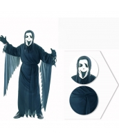 コスチューム 幽霊 マスク+ローブ+ウエストバンド 3点セット qx10037-7