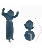 コスチューム 顔無し幽霊 フード&マスク付きローブ+腰紐 2点セット qx10037-8