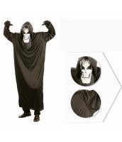 コスチューム ホワイトフェイス幽霊 帽子+マスク+ローブ 3点セット qx10037-9