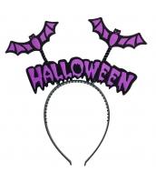 コスプレ小道具 ハロウィン用品 パープル蝙蝠 カチューシャ qx10038-13
