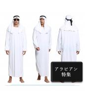 アラビアン コスチューム ホワイト中等 ローブ+フード 2点セット qx10039-2