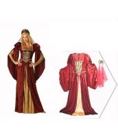 古代ローマ コスチューム 貴族衣装 ドレス+ヘッドピース 2点セット qx10074-3
