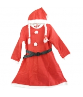 クリスマス コスチューム レディースサンタ ドレス+帽子 2点セット qx10040-8