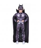 バットマン コスチューム 4-6歳児 筋肉ジャンプスーツ+マント+マスク 3点セット qx10149-1